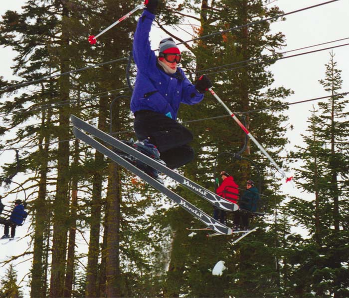 Picture of Matt Skiing